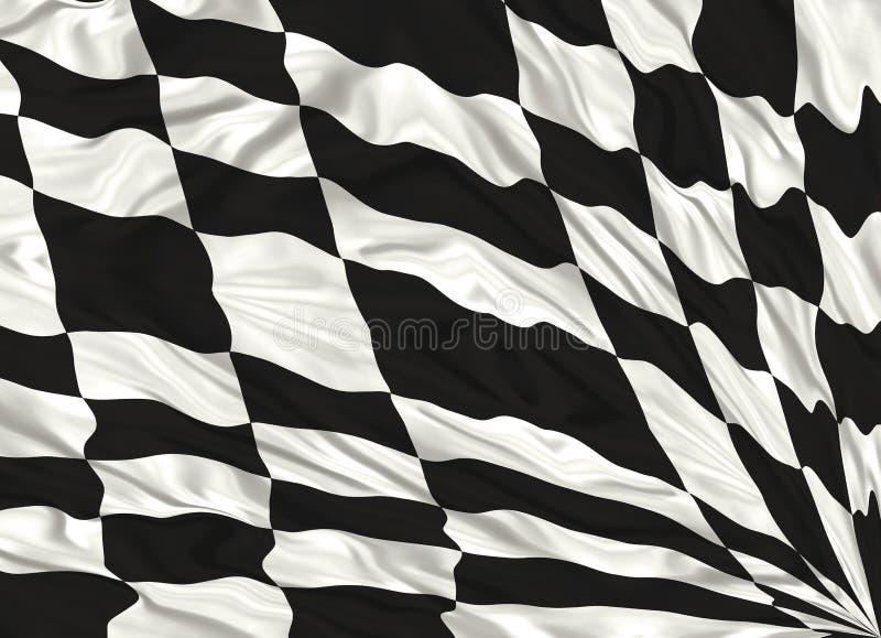 Bandeira Chequered ilustração royalty free