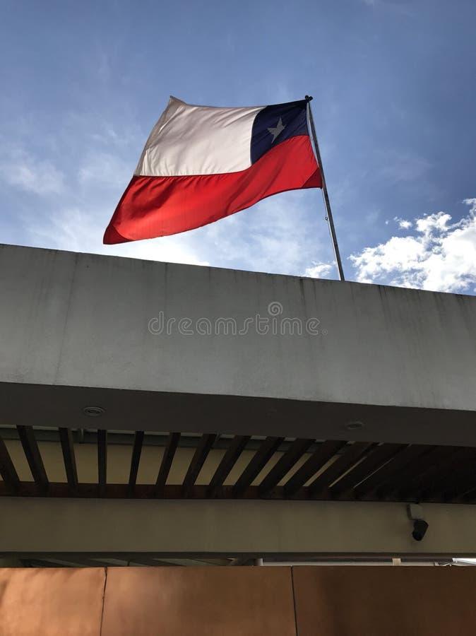 Bandeira chilena, o Chile, Bandera, patriótico imagem de stock