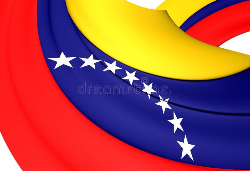 Bandeira civil da Venezuela ilustração royalty free