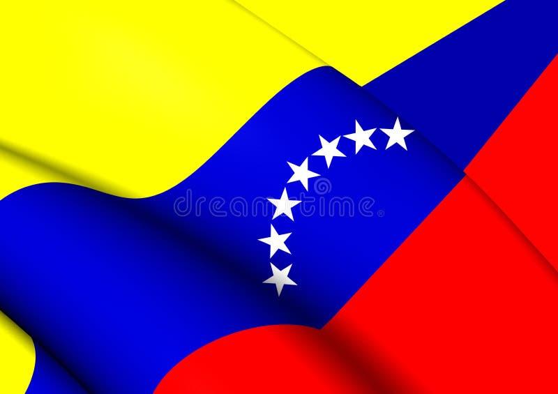 Bandeira civil da Venezuela ilustração do vetor