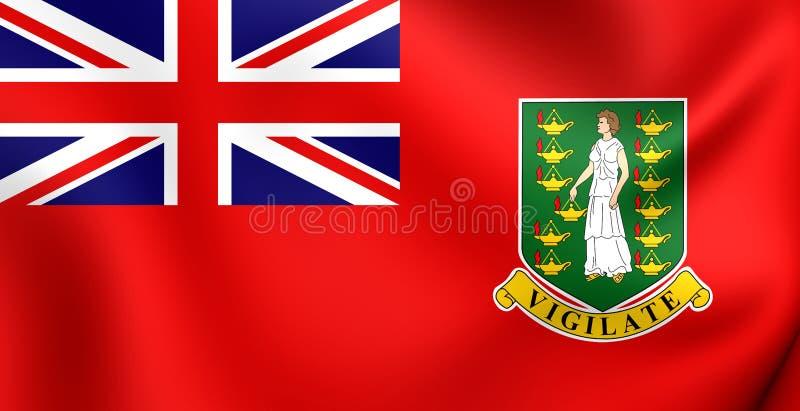 Bandeira civil de Ilhas Virgens britânicas ilustração stock