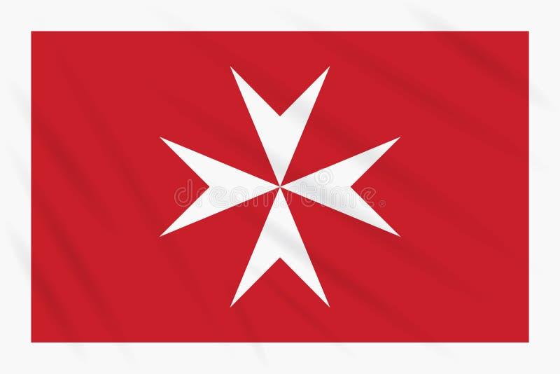 Bandeira civil de Malta que balança no vento, vetor ilustração royalty free