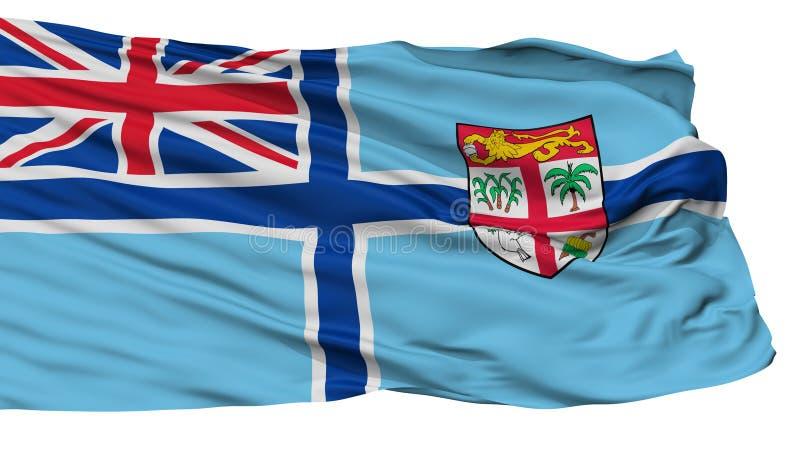 Bandeira civil do ar da bandeira de Fiji, isolada no branco ilustração stock
