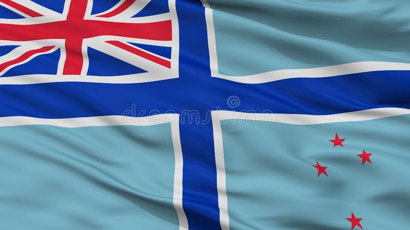 Bandeira civil do ar da opinião do close up da bandeira de Nova Zelândia ilustração stock