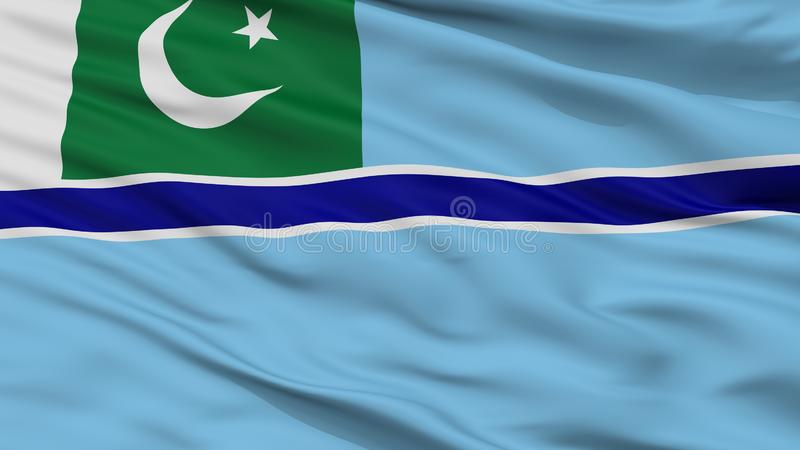 Bandeira civil do ar da opinião do close up da bandeira de Paquistão ilustração royalty free
