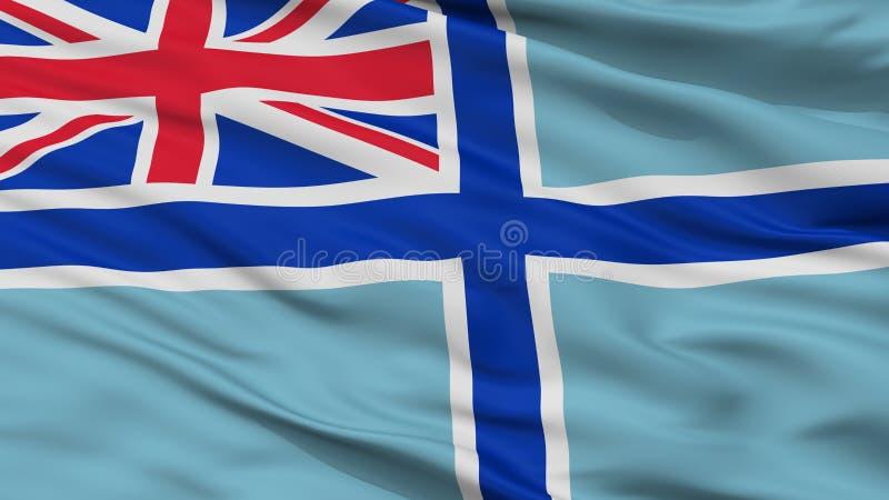 Bandeira civil do ar da opinião do close up da bandeira de Reino Unido ilustração royalty free
