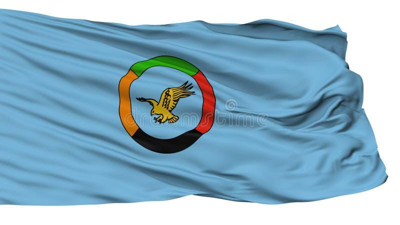 Bandeira civil do ar da bandeira da Zâmbia, isolada no branco ilustração royalty free