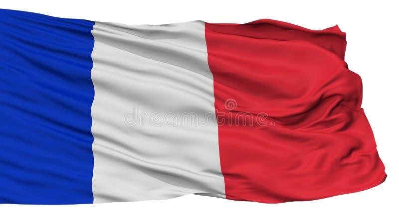 Bandeira civil e naval da bandeira de França, isolada no branco ilustração royalty free