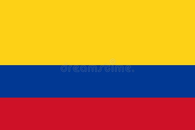 Bandeira colombiana de Colômbia ilustração stock