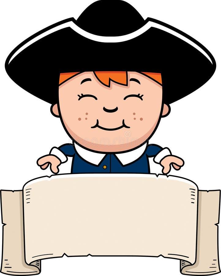 Bandeira colonial do menino ilustração do vetor