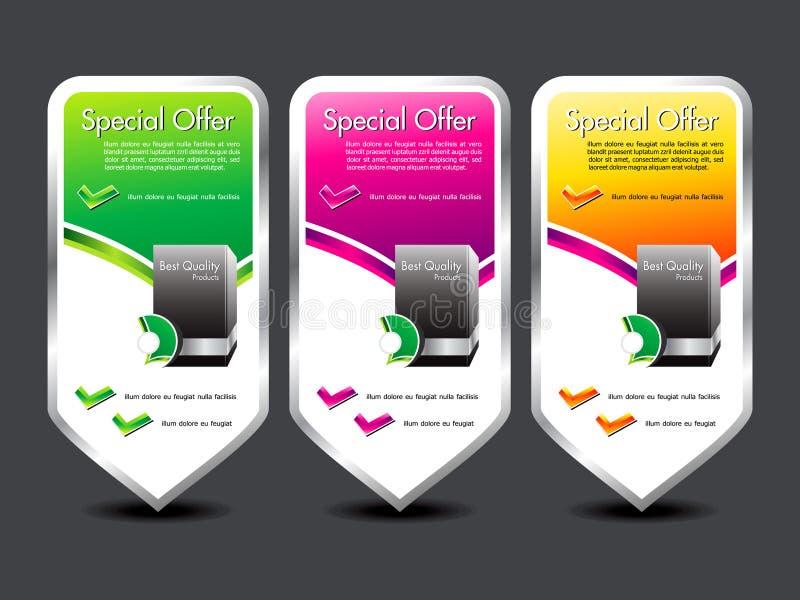 Bandeira colorida abstrata da oferta especial ilustração stock