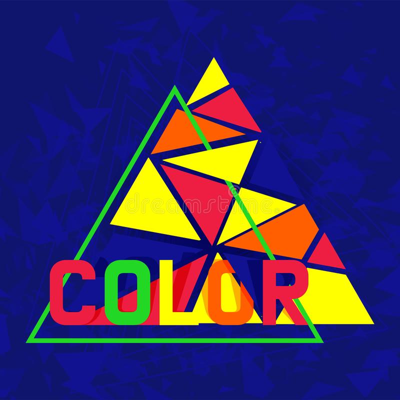 Bandeira colorida abstrata do projeto, cartão, ilustração do vetor do cartaz Projeto de Minimalistic, conceito criativo, moderno ilustração stock