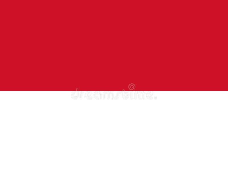 Bandeira colorida de Indonésia ilustração stock