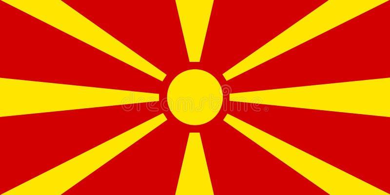 Bandeira colorida de Macedônia ilustração stock