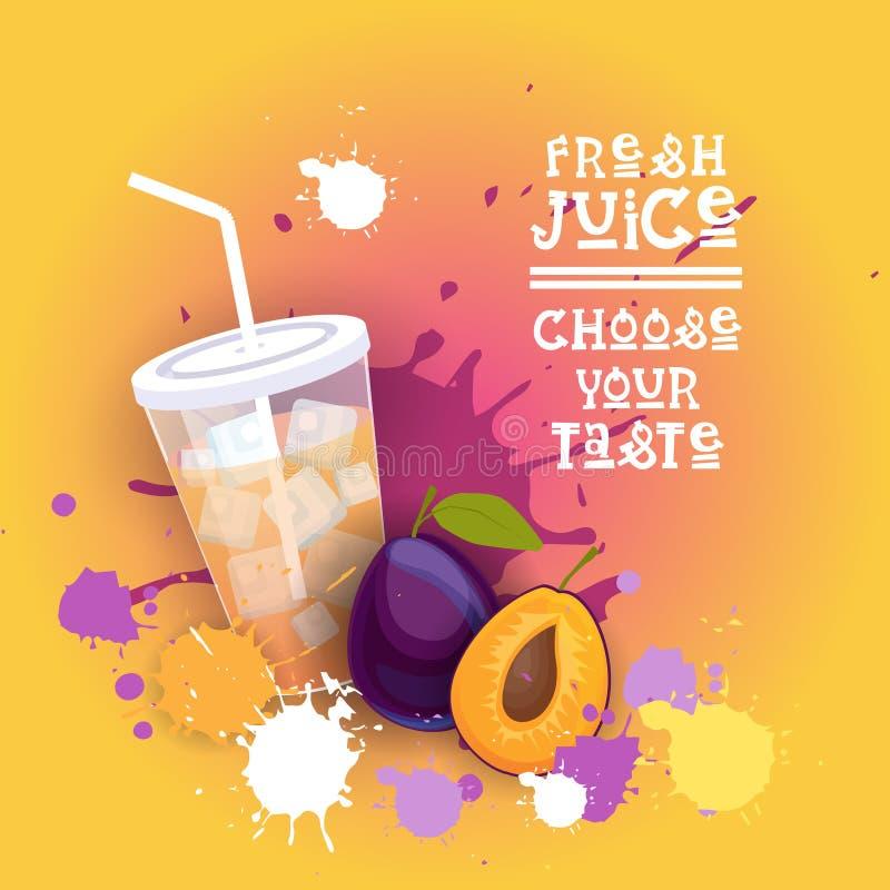 Bandeira colorida fresca de Juice Logo Healthy Vitamin Drink Bar ilustração stock