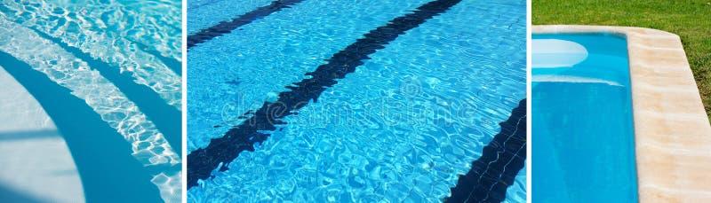 Bandeira com algumas piscinas para o fundo imagem de stock royalty free
