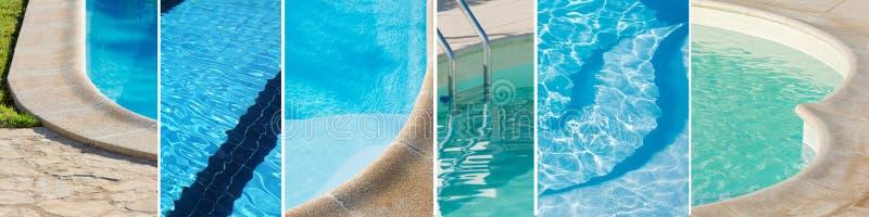 Bandeira com algumas piscinas para o fundo imagens de stock royalty free