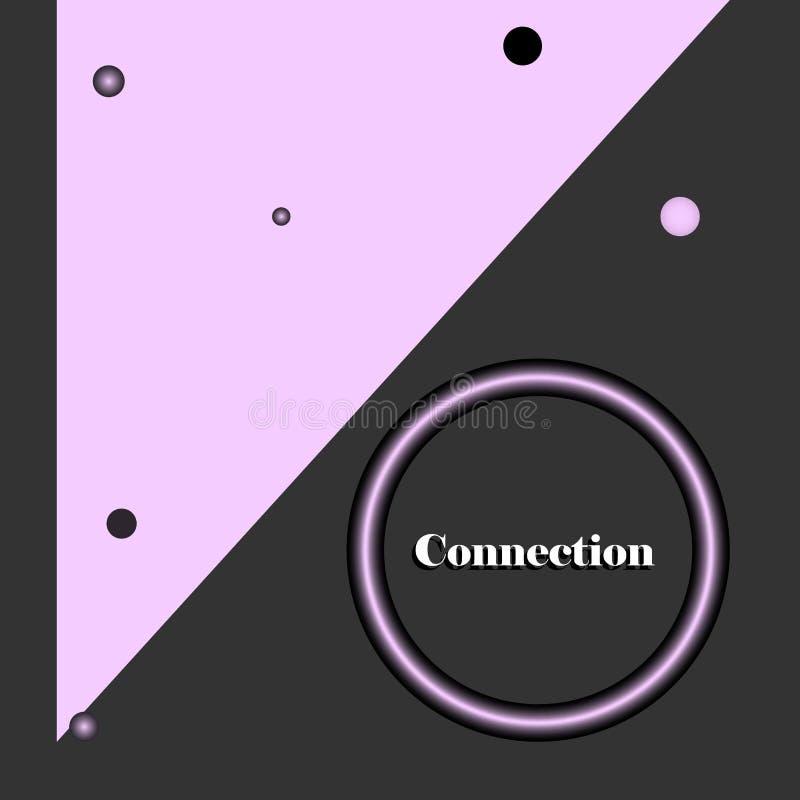 Bandeira com conexão do texto ilustração stock