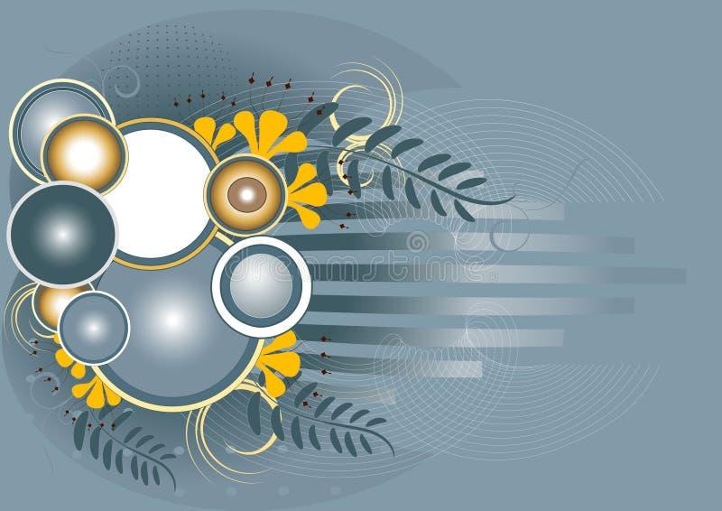 Bandeira com flor amarela. Background.Wallpaper. ilustração do vetor