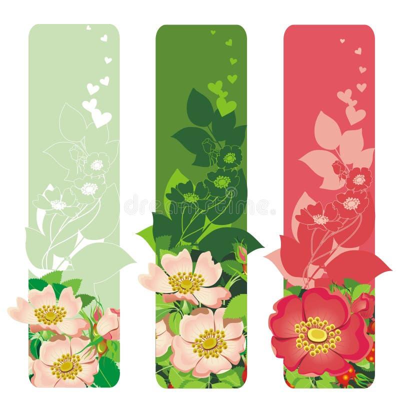 Download Bandeira com flores ilustração do vetor. Ilustração de coração - 12802441