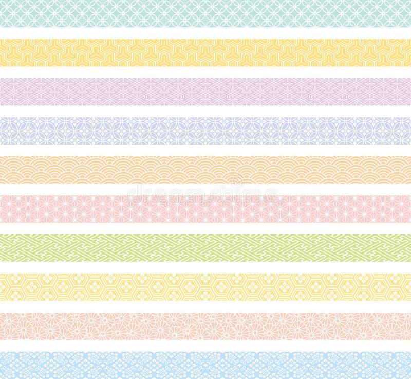 Bandeira com projeto tradicional japon imagens de stock royalty free