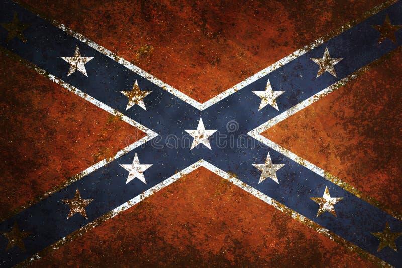 Bandeira confederada do vintage ilustração do vetor