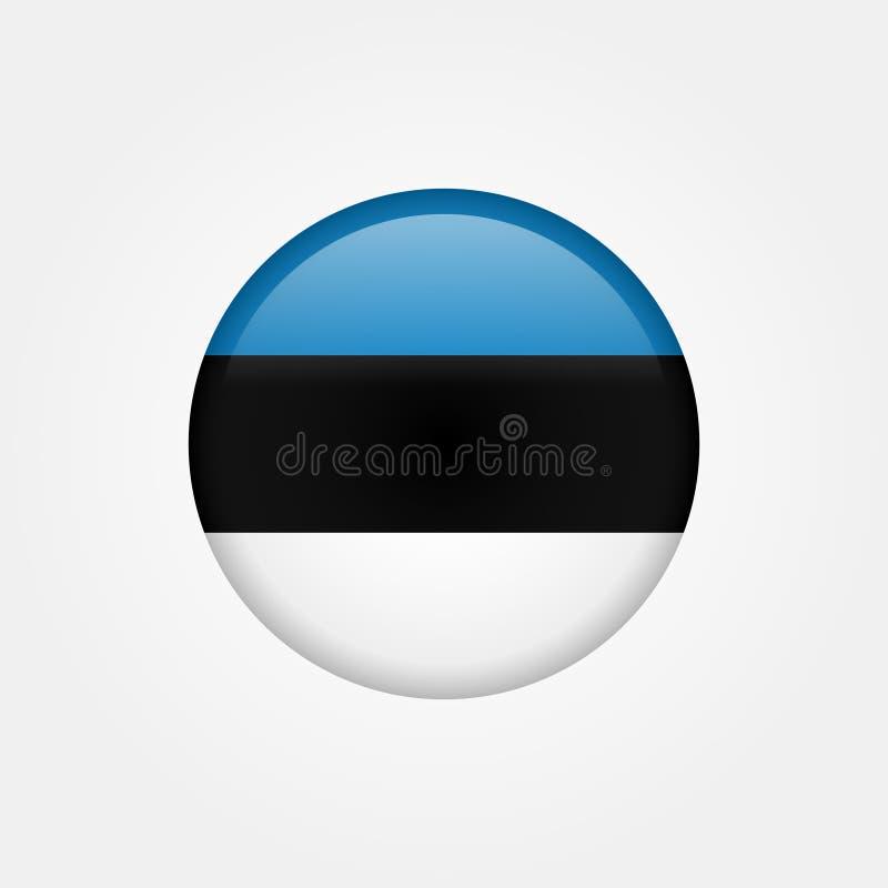 Bandeira conservada em estoque 5 de Estônia do vetor ilustração do vetor