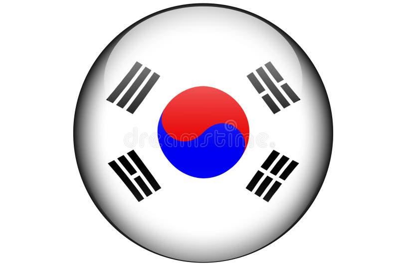 Bandeira coreana sul ilustração royalty free