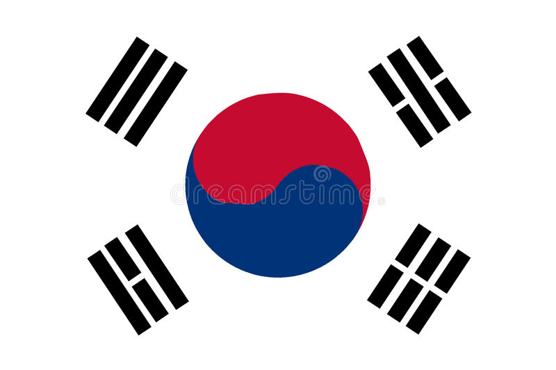 Bandeira coreana sul ilustração stock