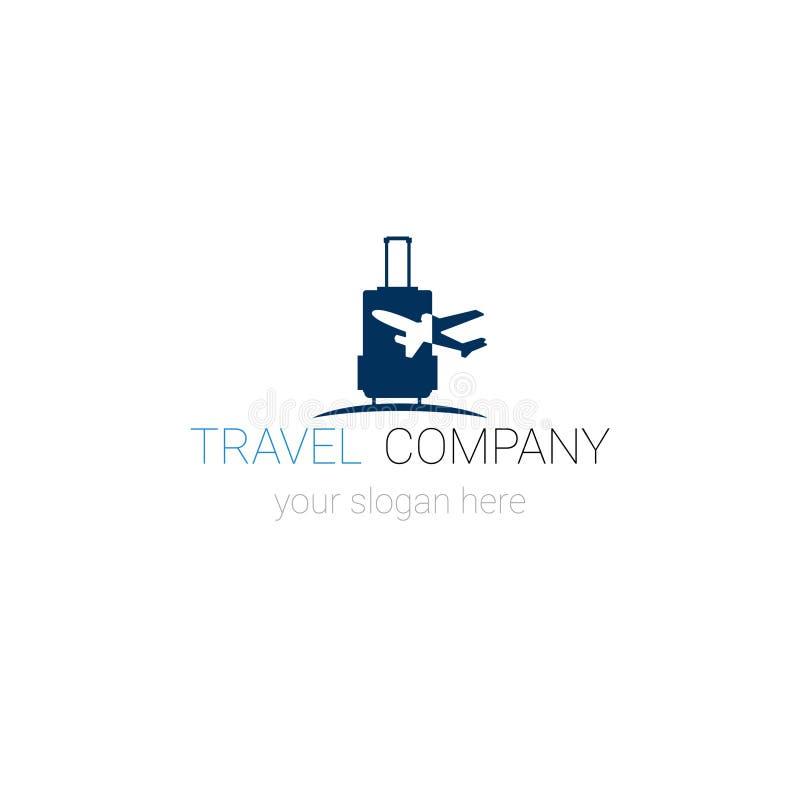 Bandeira criativa do molde da agência de Logo Of Travel Company Tourism ilustração stock