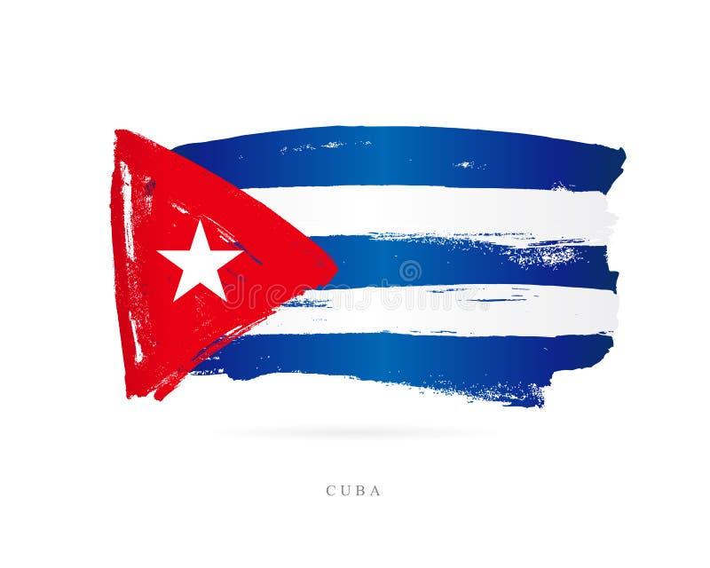 Bandeira cubana Conceito abstrato ilustração royalty free