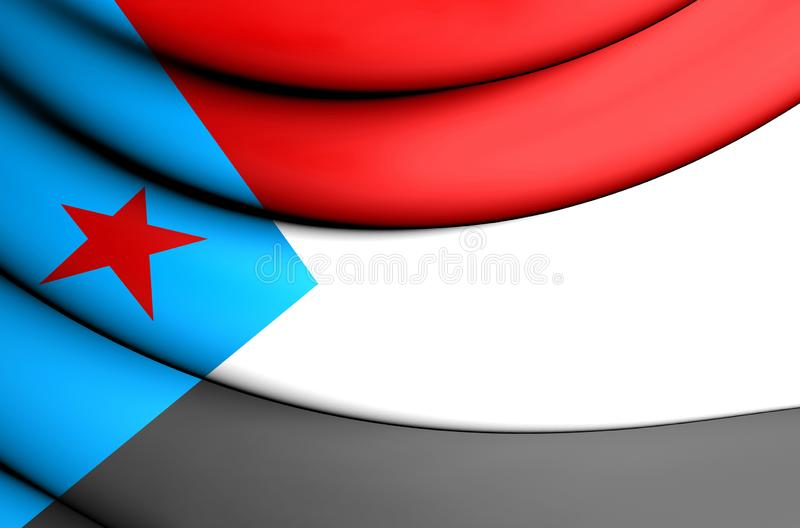 bandeira 3D de Iémen sul ilustração royalty free