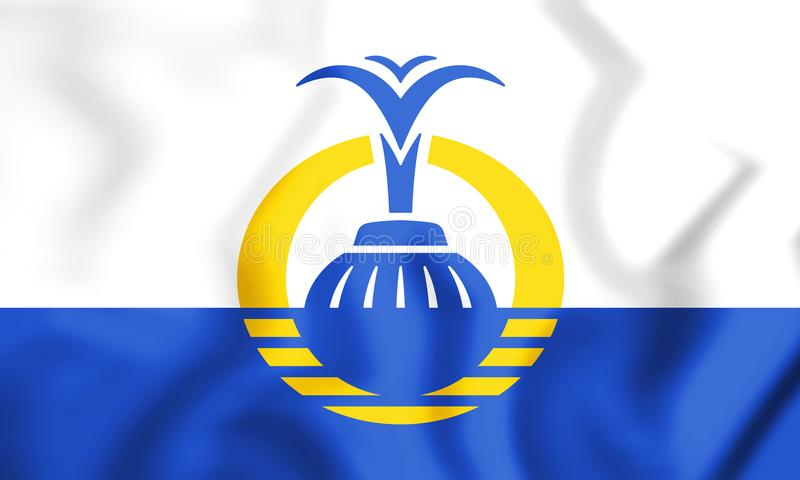 bandeira 3D de Orlando, Florida EUA ilustração do vetor