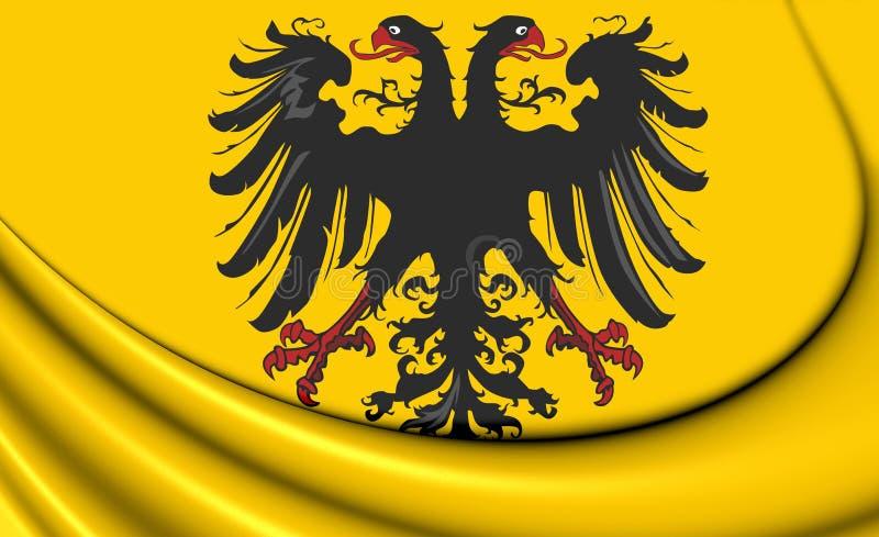 bandeira 3D de Roman Emperor After santamente 1400 ilustração stock