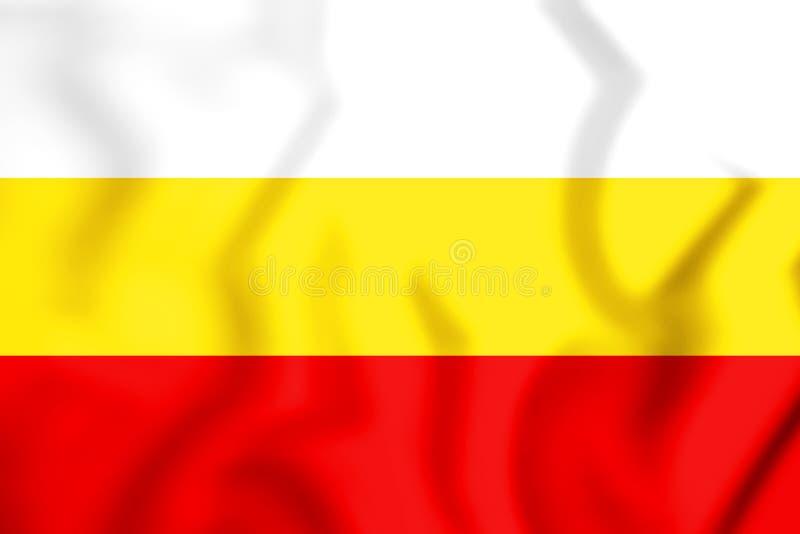 bandeira 3D de Santa Isabel, Porto Rico ilustração do vetor