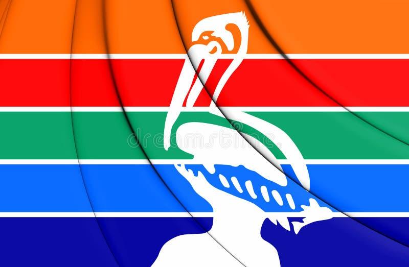 bandeira 3D de St Petersburg Florida, EUA ilustração stock