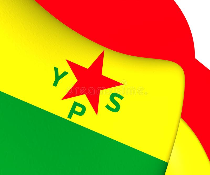 bandeira 3D de unidades da proteção civil ilustração royalty free