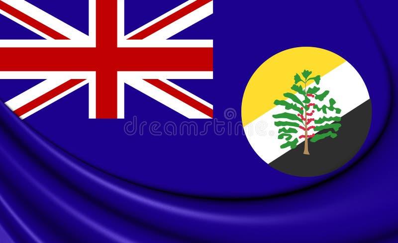 Bandeira 3D do British Central Africa Protectorate BCA ilustração royalty free