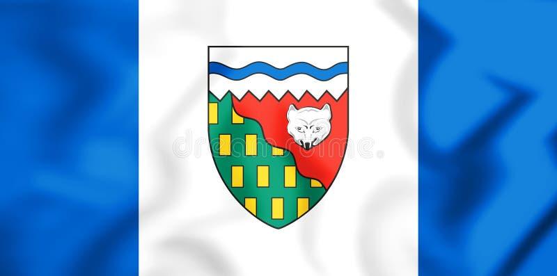 bandeira 3D dos territórios do noroeste, Canadá ilustração royalty free
