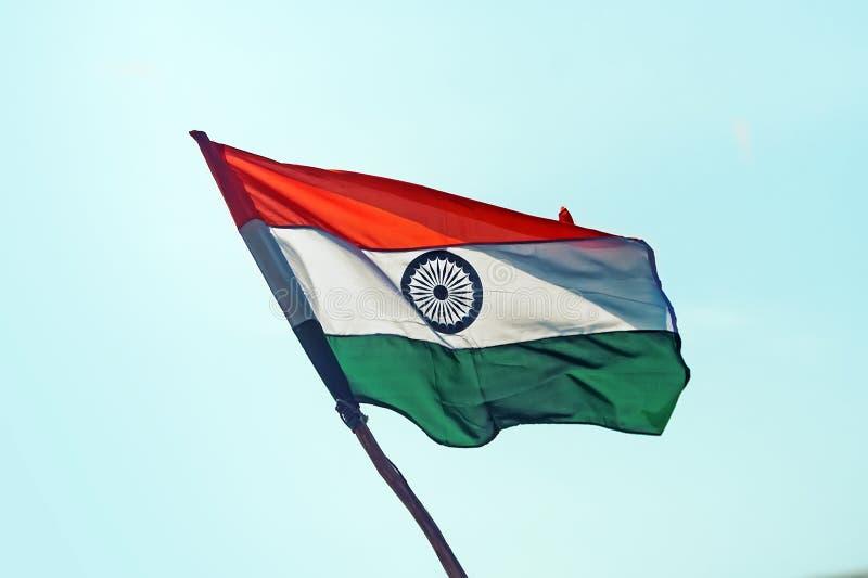 Bandeira da Índia no vento foto de stock royalty free