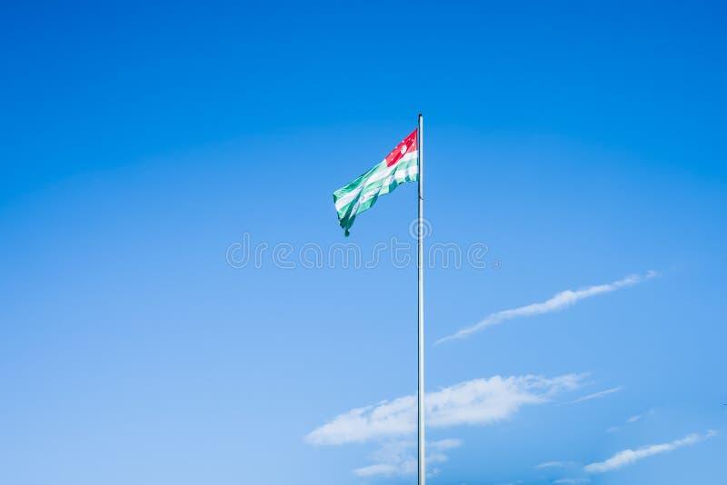 A bandeira da Abkhásia fotos de stock royalty free