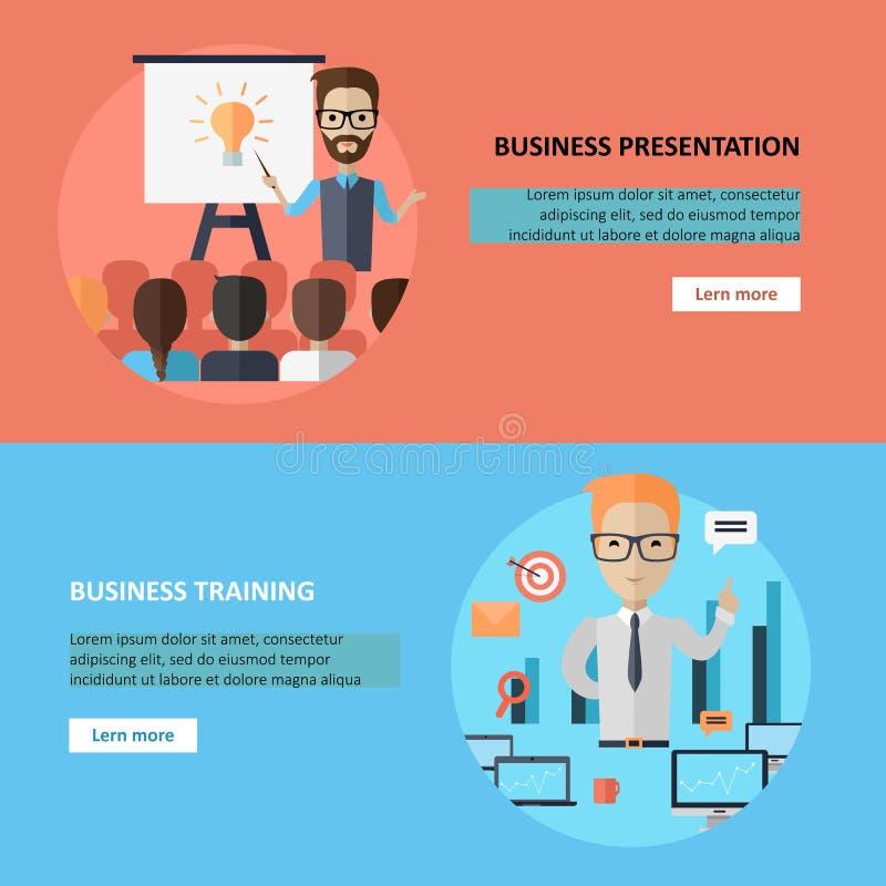 Bandeira da apresentação e do treinamento do negócio ilustração stock