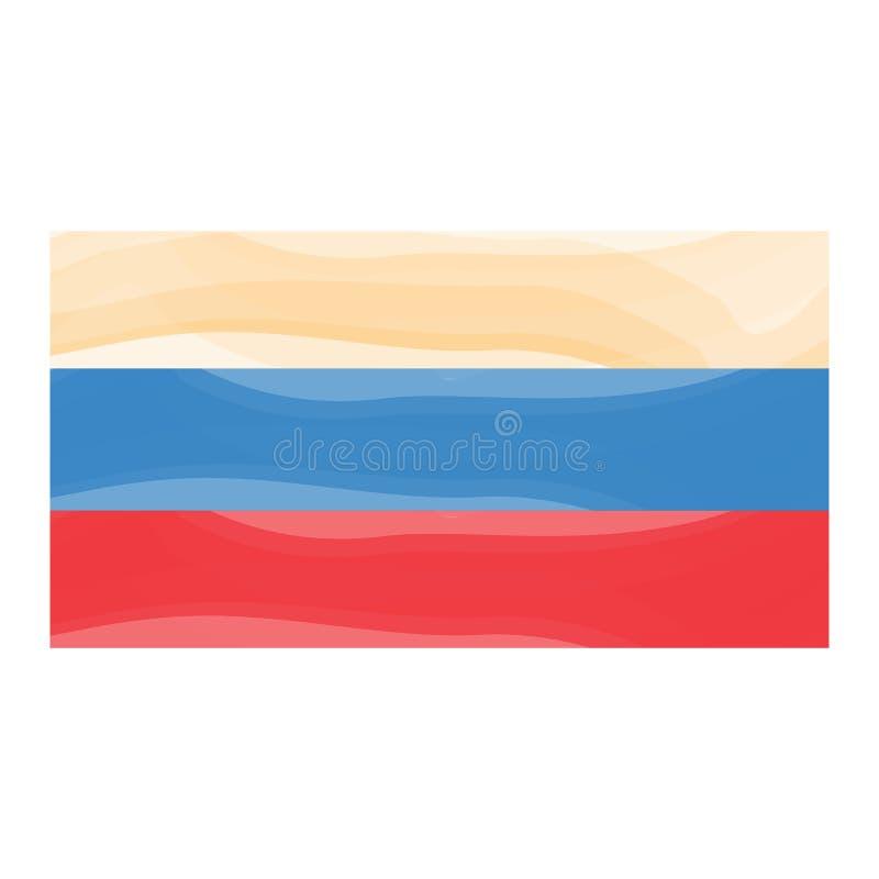 Bandeira da aquarela de Colômbia ilustração royalty free