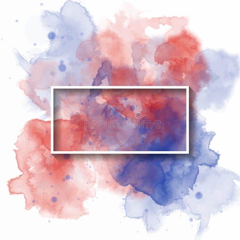 Bandeira da aquarela do respingo, usada para a bandeira, o molde, o convite ou a alguma decoração Ilustra??o do vetor ilustração stock