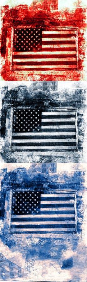 Download Bandeira Da Bandeira Americana Ilustração Stock - Ilustração de julho, patriotic: 63716