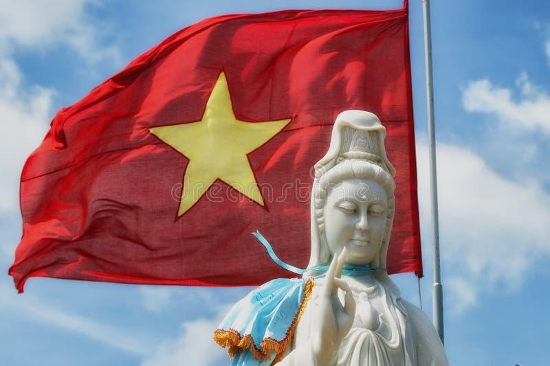 Bandeira da Buda & do Vietname fotos de stock