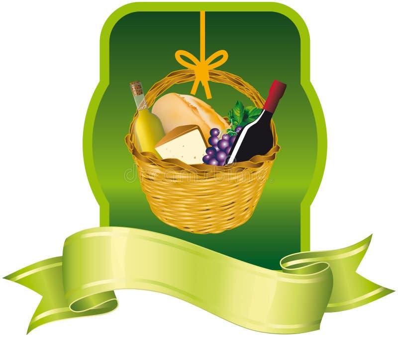 Bandeira da cesta fotos de stock royalty free