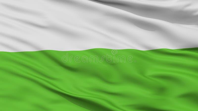 Bandeira da cidade de Aalten, Países Baixos, opinião do close up foto de stock royalty free