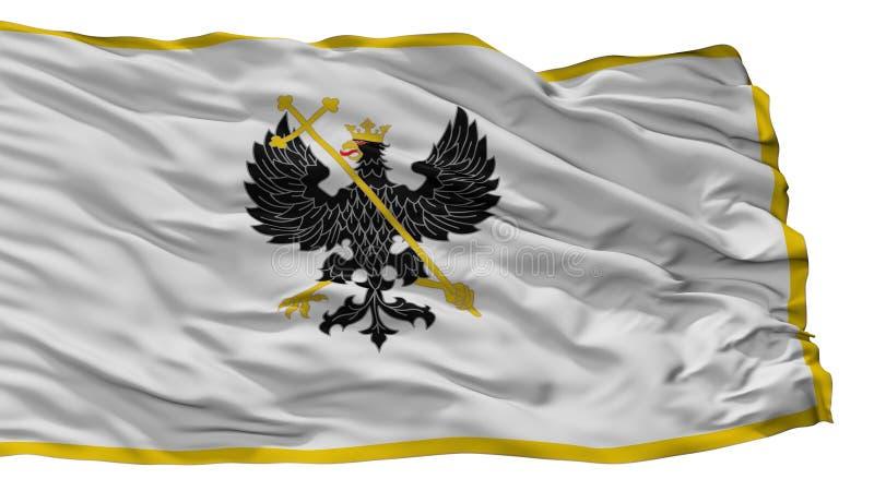 Bandeira da cidade de Alex K Chernihiv Prapor, Ucrânia, isolada no fundo branco ilustração do vetor