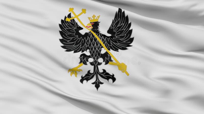 Bandeira da cidade de Alex K Chernihiv Prapor, Ucrânia, opinião do close up ilustração royalty free